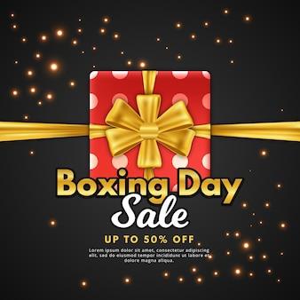 Conceito de venda realista dia de boxe