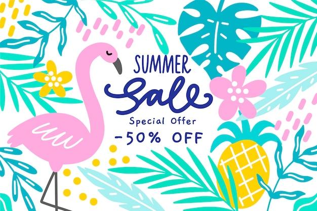 Conceito de venda verão colorido