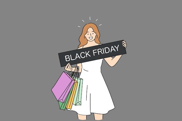 Conceito de vendas com desconto na black friday