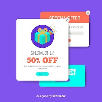Conceito de vendas de coleção de banner pop-up