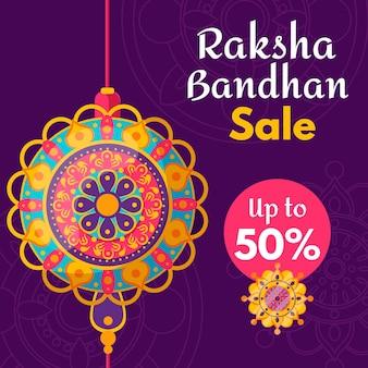 Conceito de vendas plana raksha bandhan