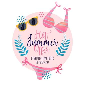 Conceito de vendas sazonais de verão