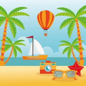 Conceito de verão com design de ícone