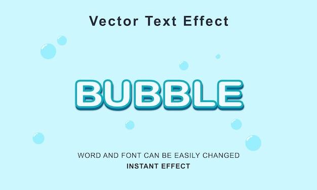 Conceito de vetor de design de texto de efeito de bolha premium