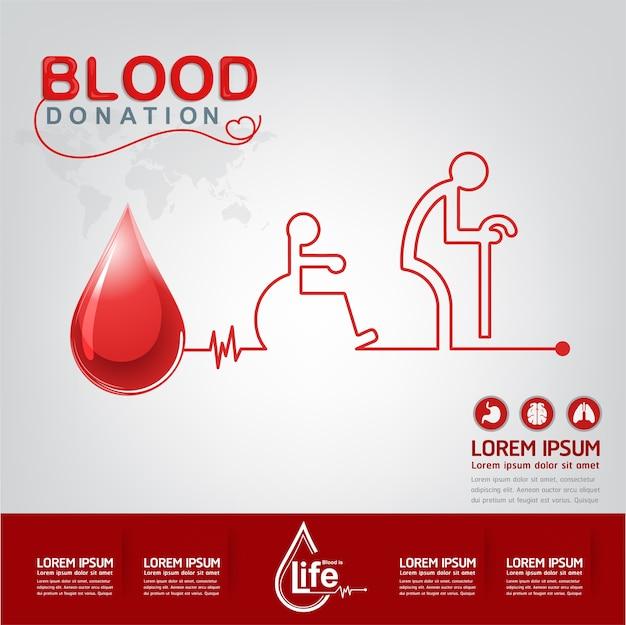 Conceito de vetor de doação de sangue - hospital para começar a vida nova novamente