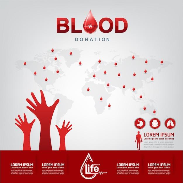 Conceito de vetor de doação de sangue