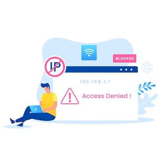 Conceito de vetor de endereço ip. ilustração