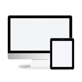 Conceito de vetor de ícone de dispositivo digital de tecnologia
