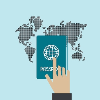 Conceito de vetor de passaporte