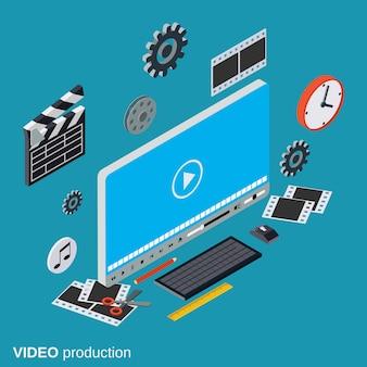 Conceito de vetor de produção de vídeo