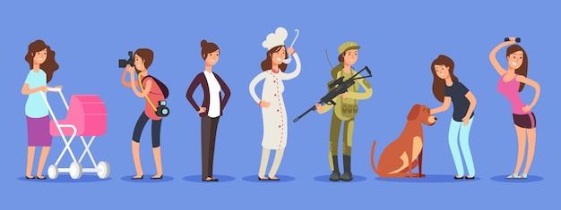 Conceito de vetor feminino de livre escolha