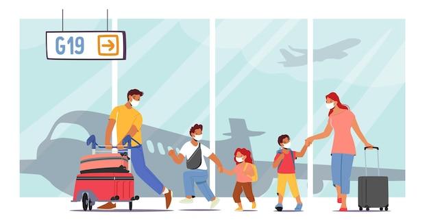 Conceito de viagem de férias de verão em família com crianças