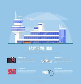 Conceito de viagem fácil para agência de viagens
