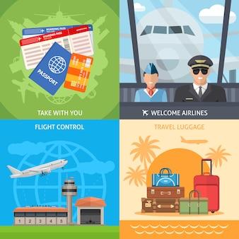 Conceito de viagens aéreas
