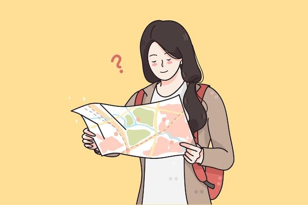 Conceito de viagens de férias de turismo