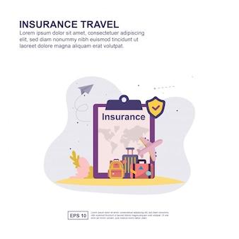 Conceito de viagens de seguros