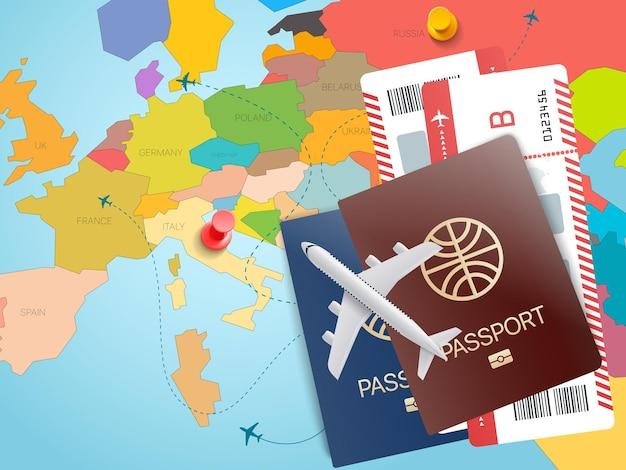 Conceito de viagens pelo mundo.