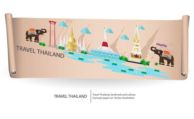 Conceito de viagens tailândia.