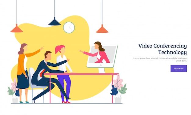 Conceito de videoconferência