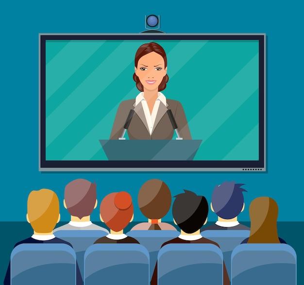 Conceito de videoconferência.