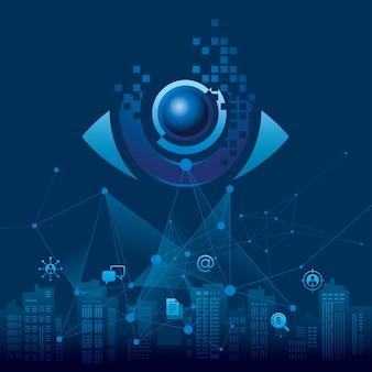 Conceito de visão nos negócios com olho