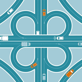 Conceito de vista superior de monitoramento gps de carro