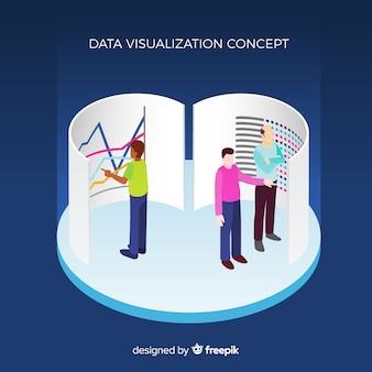 Conceito de visualização de dados isométrica