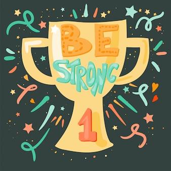 Conceito de vitória - para ser forte