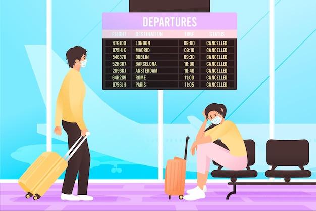 Conceito de voo cancelado