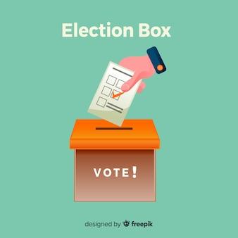 Conceito de votação e eleição com caixa