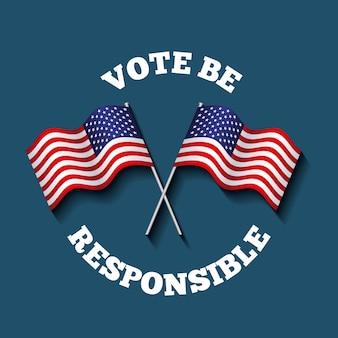 Conceito de voto presidencial dos eua