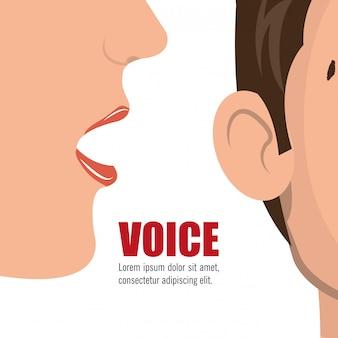 Conceito de voz