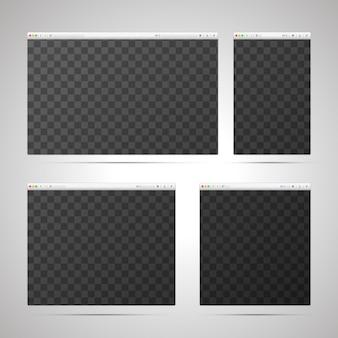 Conceito de web design adaptável com modelos de navegadores em diferentes tamanhos e locais para layout