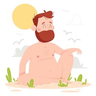 Conceito de zona de nudez dos desenhos animados