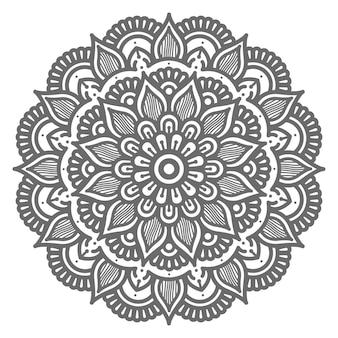 Conceito decorativo de círculo redondo ilustração linda mandala