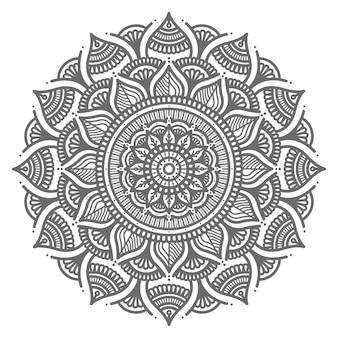 Conceito decorativo de estilo circular ilustração detalhada de mandala bonita