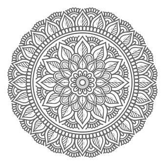 Conceito decorativo de ilustração de mandala desenhada à mão