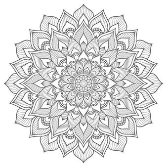 Conceito decorativo esboço estilo mandala