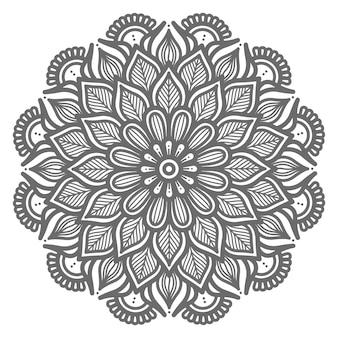 Conceito decorativo ilustração bela natureza abstrata mandala