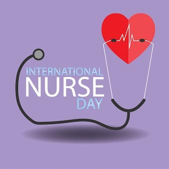 Conceito dia internacional da enfermeira.