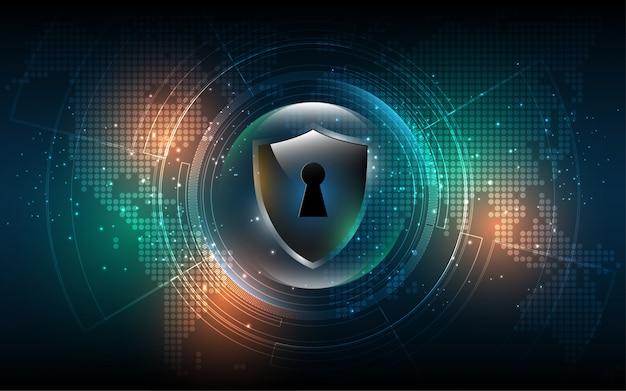 Conceito digital de cyber segurança fundo abstrato de tecnologia