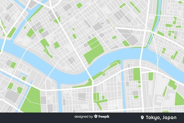 Conceito digital do mapa colorido da cidade