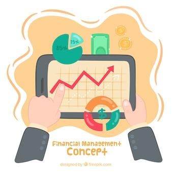 Conceito divertido de gestão financeira