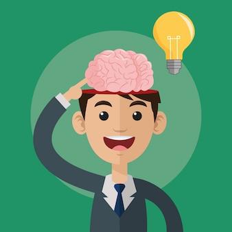 Conceito do cérebro