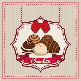 Conceito do chocolate com projeto doce do ícone, gráfico do eps da ilustração 10 do vetor.