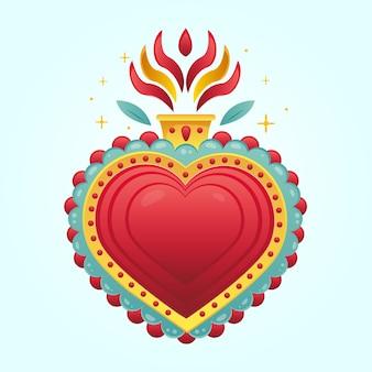 Conceito do coração sagrado
