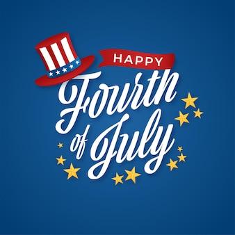 Conceito do dia da independência americana.