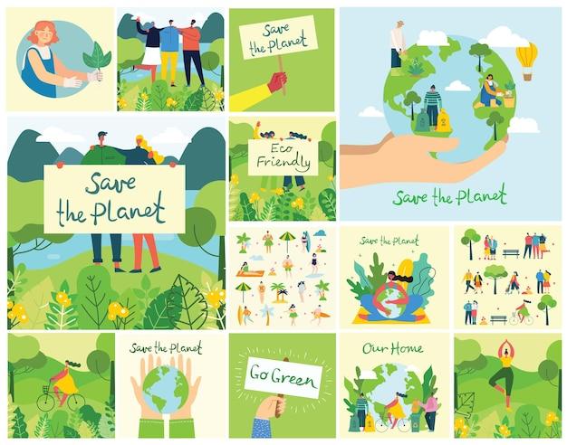 Conceito do dia da terra. mãos humanas segurando um globo terrestre. salve nosso planeta.