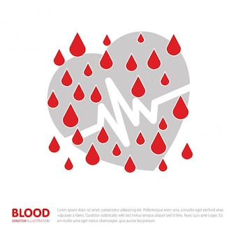Conceito do dia do doador de sangue do mundo