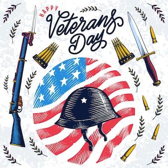 Conceito do dia dos veteranos vintage